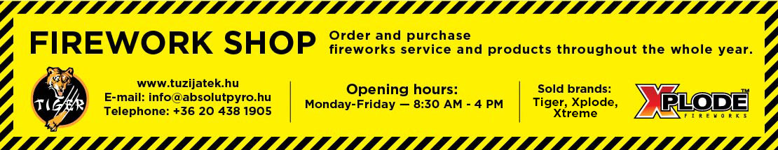 Fireworks Shop - Order and purchase fireworks service and products throughout the whole year.